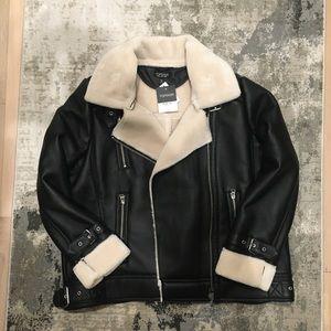 Faux Leather/fur Jacket